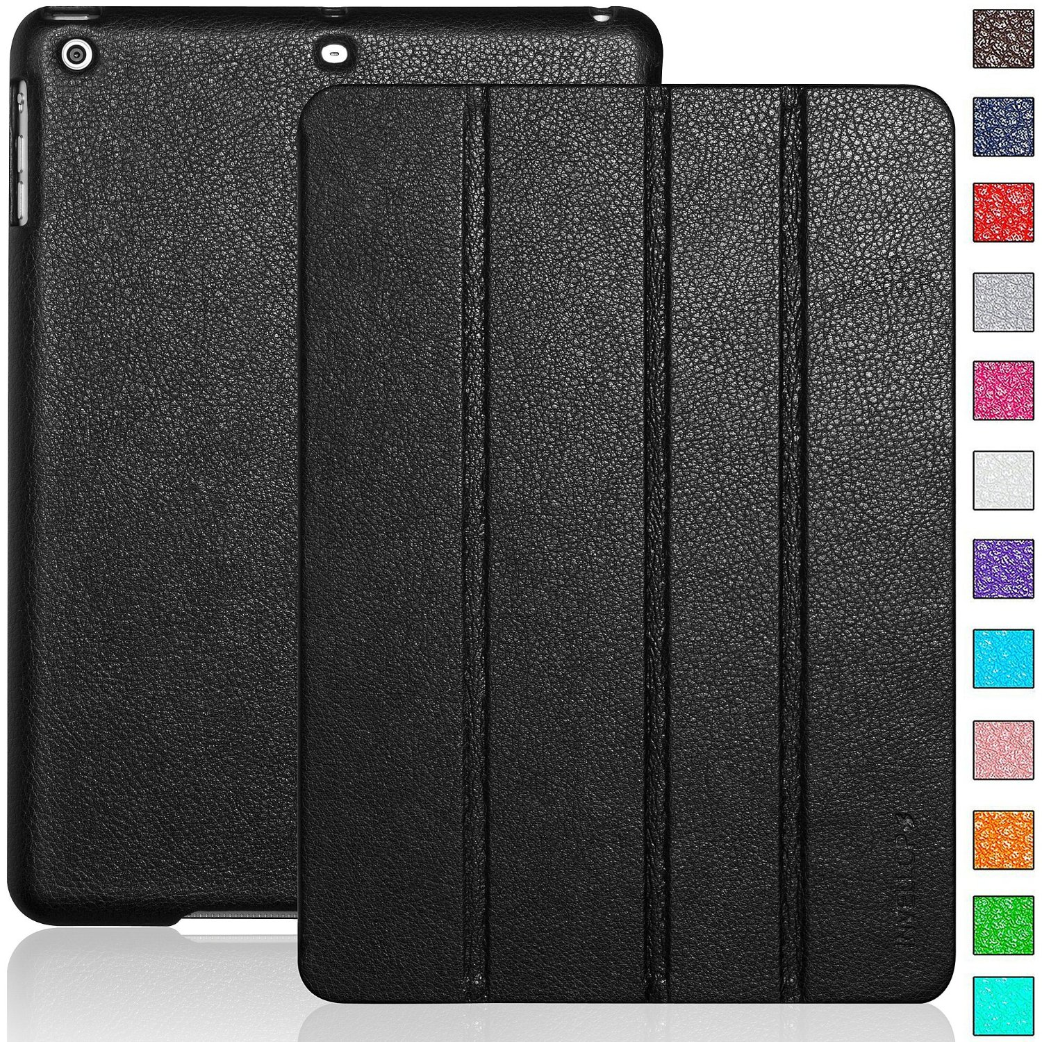 Invellop Black Leatherette Case Cover For Le Ipad Air