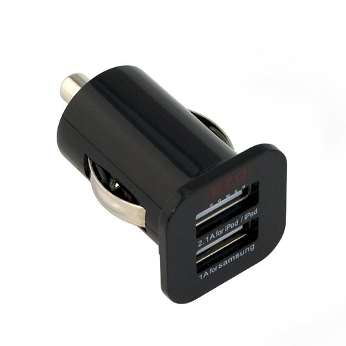EZOPower-Compact-Black-Dual-USB-Car-Charger